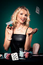 Poker girl Royalty Free Stock Image