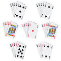 Poker hands Stock Image