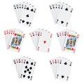 Poker hands Royalty Free Stock Photo