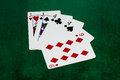 Poker hands two pair jacks fours nine hand the hand contains cards of the same rank plus cards of another rank that match each Stock Photography