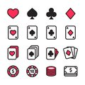 Poker icon set
