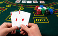Poker play. Cards Royalty Free Stock Photo
