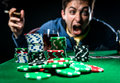 Poker player angry selective focus Stock Photography