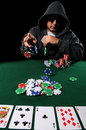 Poker Player Betting Stock Photography