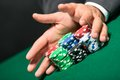 Poker player stakes Stock Images