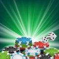 Poker Poster Vector. Online Poker Gambling Casino Billboard Sign. Jackpot Advertising Concept Illustration. Royalty Free Stock Photo