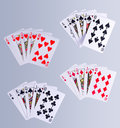 Poker Royal Flush Playing Cards Royalty Free Stock Photo