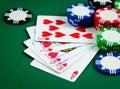 Poker royal flush Royalty Free Stock Photo