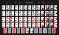 Poker set with isolated cards on green background. Poker playing cards - Full deck Royalty Free Stock Photo