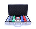 Poker set suitcase Royalty Free Stock Photo