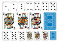 Poker size Club playing cards plus reverse Royalty Free Stock Photo