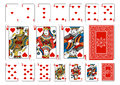 Poker size Heart playing cards plus reverse Royalty Free Stock Photo