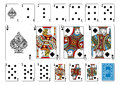 Poker size Spade playing cards plus reverse Royalty Free Stock Photo