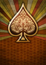 Poker spade design on a textured background Royalty Free Stock Images