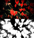 Poker suits abstract background rendered with alpha channel Royalty Free Stock Image