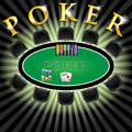 Poker table illustration as part of the casino Royalty Free Stock Image
