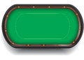 Poker table isolated casino card gambling with green felt Stock Photos