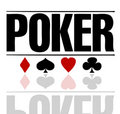 Poker text Stock Image