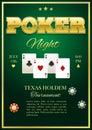 Poker Tournament Poster Royalty Free Stock Photo