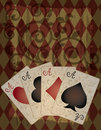 Poker wallpaper in retro style Royalty Free Stock Image