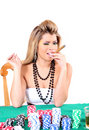 Poker woman 2 Stock Photography