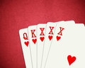 Poker xxx words on red background Stock Image