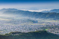 Pokhara city view from sarangkot hill nepal Royalty Free Stock Photography