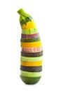 Pokrojony courgette i oberżyny kolorowy vegetable zucchini Obraz Stock