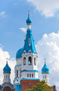 Pokrova Bozhiej Materi's orthodox church Royalty Free Stock Images