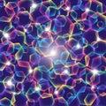 Polígonos del arco iris con las luces Foto de archivo libre de regalías
