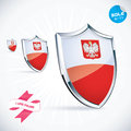 Poland flag i love illustration Stock Photography
