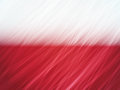 Poland flag with stripes brush strokes