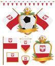 Poland flags Royalty Free Stock Photography