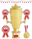 Poland football trophy Royalty Free Stock Photo