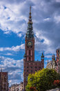 Poland Gdansk Old town-hall Royalty Free Stock Photo