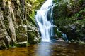 Poland. The Karkonosze National Park (biosphere reserve) - Kamienczyk waterfall Royalty Free Stock Photo
