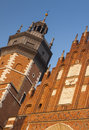 Poland, Kraków, Kazimierz, Bell Tower and West  End of Corpus C Royalty Free Stock Photo