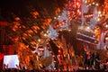 POLAND, KRAKOW - JANUARY 01, 2015: Celebrating the New Year 2015.