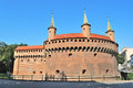 Poland one of the main landmarks of krakow bastion barbacan Royalty Free Stock Photography