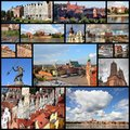 Poland photo collage from collage includes major cities like warsaw gdansk torun bydgoszcz plock and grudziadz Royalty Free Stock Image
