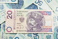 Poland PLN currency 20 Royalty Free Stock Photo