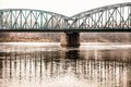 Poland torun famous truss bridge over vistula river transportation infrastructure Stock Photography