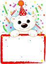 Polar Bear Cab Birthday Royalty Free Stock Photo