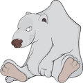 Polar bear cartoon the big Stock Images