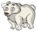 Polar bear with dizzy eyes