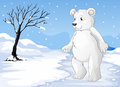 A polar bear freezing illustration of Royalty Free Stock Image