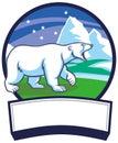 Polar Bear And Ice Nature Back...