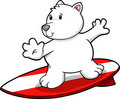 Polar Bear Surfing Vector Stock Photos