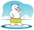 Polar Bear with thumb up Royalty Free Stock Photo