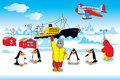 Polar expedition Royalty Free Stock Photo